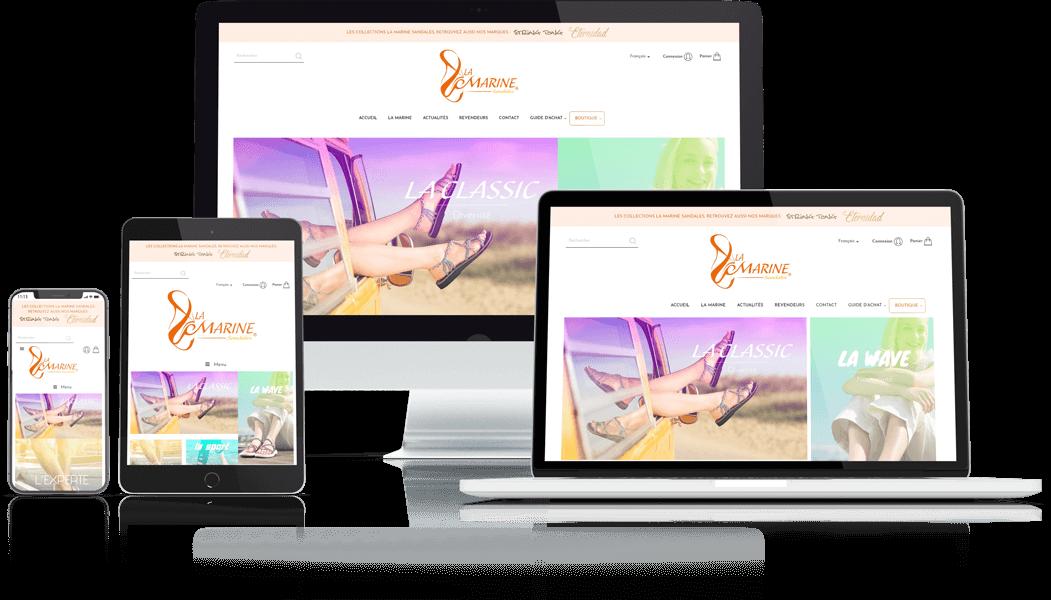 Site e-commerce la marine sandales, Agence Impulsion
