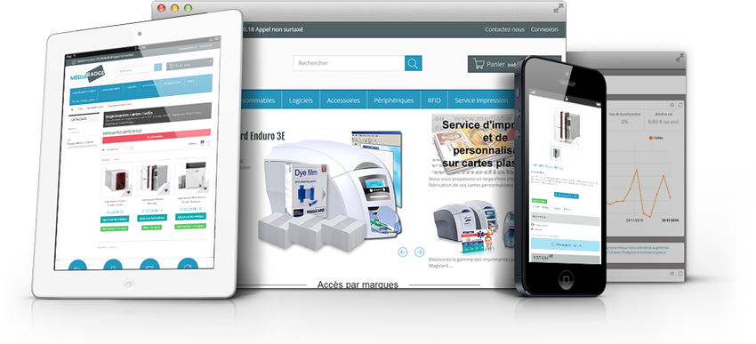 Site e-commerce Mediabadge, Agence Impulsion