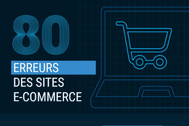 Infographie : liste des 80 erreurs commises sur les site e-commerce